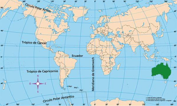 Australia mapamundi